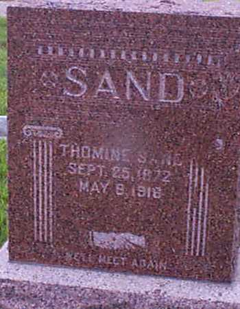SAND, THOMINE - Audubon County, Iowa | THOMINE SAND