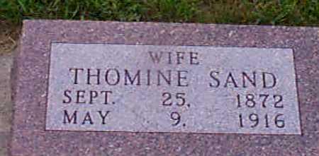 SAND, THOMINE - Audubon County, Iowa   THOMINE SAND
