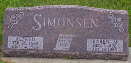 SIMONSEN, ALFRED - Audubon County, Iowa | ALFRED SIMONSEN