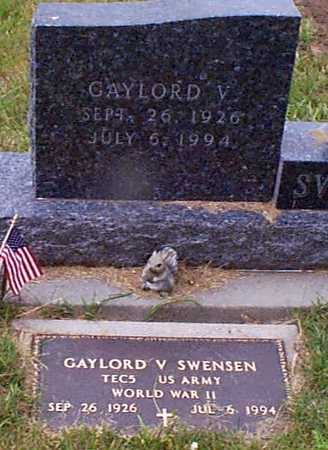 SWENSEN, GAYLORD V - Audubon County, Iowa | GAYLORD V SWENSEN