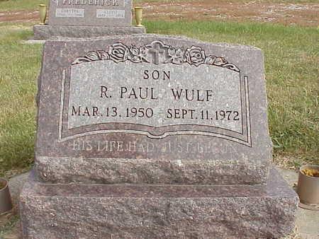 WULF, R. PAUL - Audubon County, Iowa   R. PAUL WULF