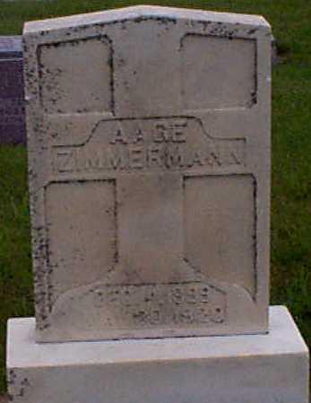 ZIMMERMAN, AAGE - Audubon County, Iowa | AAGE ZIMMERMAN