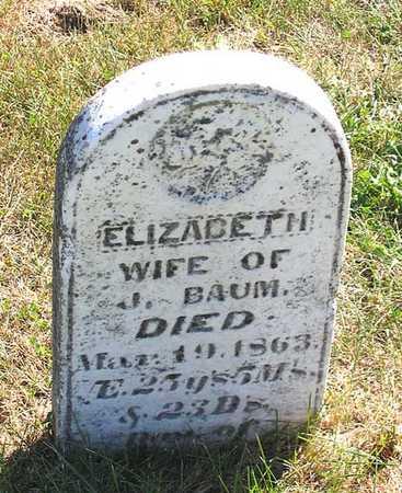 BAUM, ELIZABETH - Benton County, Iowa | ELIZABETH BAUM