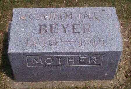 KEYSER BEYER, CAROLINE - Benton County, Iowa | CAROLINE KEYSER BEYER