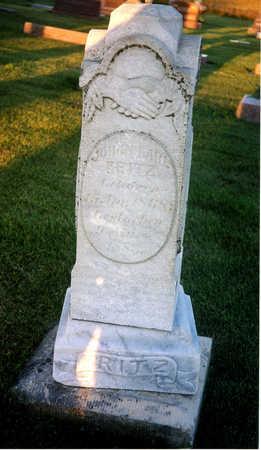FRITZ, JOHANN KARL - Benton County, Iowa | JOHANN KARL FRITZ