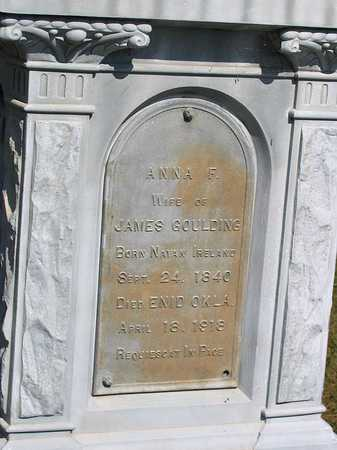 GOULDING, ANNA F. - Benton County, Iowa | ANNA F. GOULDING