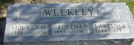 WEEKLEY, LOVENA - Benton County, Iowa | LOVENA WEEKLEY