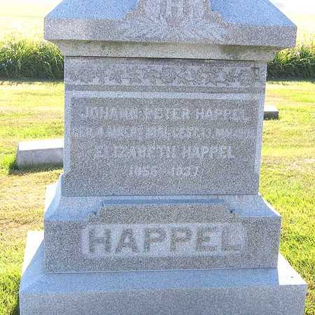 HAPPEL, ELIZABETH - Benton County, Iowa | ELIZABETH HAPPEL