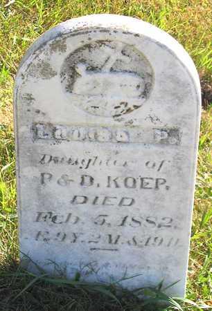 KOEP, LOUISA P. - Benton County, Iowa | LOUISA P. KOEP