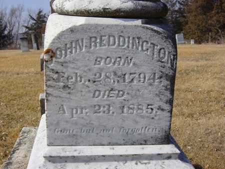 REDDINGTON, JOHN - Benton County, Iowa | JOHN REDDINGTON