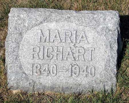 RICHART, MARIA - Benton County, Iowa | MARIA RICHART