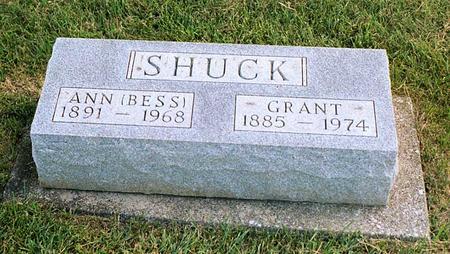 SHUCK, ANN ELIZABETH - Benton County, Iowa | ANN ELIZABETH SHUCK