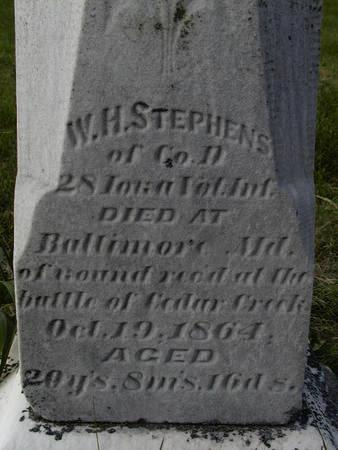 STEPHENS, W.H. - Benton County, Iowa | W.H. STEPHENS