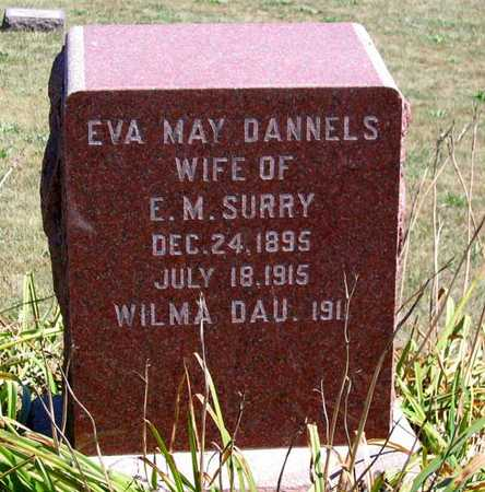 DANNELS SURRY, EVA MAY - Benton County, Iowa | EVA MAY DANNELS SURRY