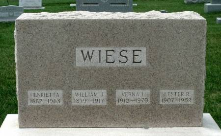 WIESE, LESTER R. - Benton County, Iowa | LESTER R. WIESE