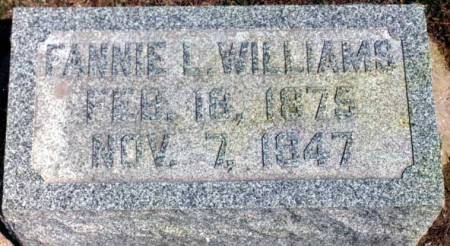 WILLIAMS, FANNIE LOUISA - Benton County, Iowa | FANNIE LOUISA WILLIAMS
