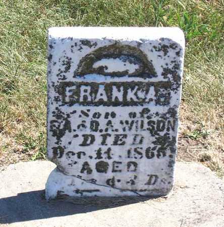 WILSON, FRANK A. - Benton County, Iowa | FRANK A. WILSON