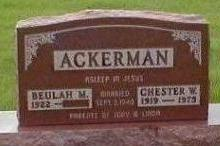 ACKERMAN, CHESTER - Black Hawk County, Iowa | CHESTER ACKERMAN