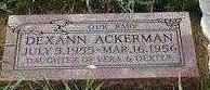 ACKERMAN, DEXANN - Black Hawk County, Iowa | DEXANN ACKERMAN