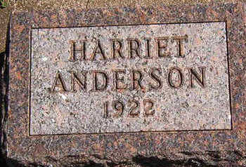 ANDERSON, HARRIET - Black Hawk County, Iowa | HARRIET ANDERSON