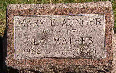 AUNGER, MARY E. - Black Hawk County, Iowa | MARY E. AUNGER