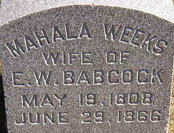BABCOCK, MAHALA - Black Hawk County, Iowa | MAHALA BABCOCK