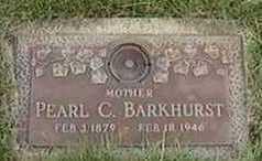 BARKHURST, PEARL C. - Black Hawk County, Iowa | PEARL C. BARKHURST