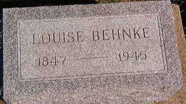 BEHNKE, LOUISE - Black Hawk County, Iowa | LOUISE BEHNKE