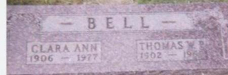 BELL, CLARA - Black Hawk County, Iowa | CLARA BELL