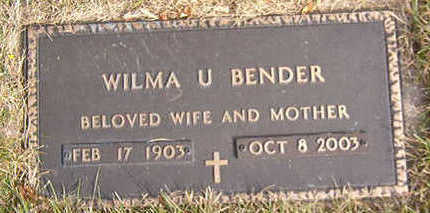 BENDER, WILMA U. - Black Hawk County, Iowa | WILMA U. BENDER