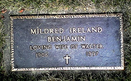 IRELAND BENJAMIN, MILDRED - Black Hawk County, Iowa | MILDRED IRELAND BENJAMIN