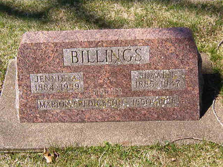 BILLINGS, JENNIE A. - Black Hawk County, Iowa | JENNIE A. BILLINGS