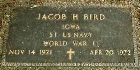 BIRD, JACOB H. - Black Hawk County, Iowa   JACOB H. BIRD