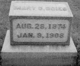 BOIES, MARY D. - Black Hawk County, Iowa | MARY D. BOIES