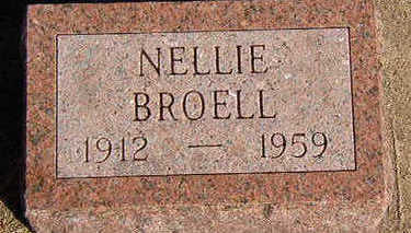BROELL, NELLIE - Black Hawk County, Iowa | NELLIE BROELL
