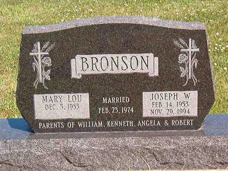BRONSON, MARY LOU - Black Hawk County, Iowa   MARY LOU BRONSON