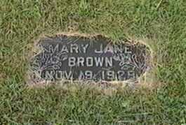 BROWN, MARY JANE - Black Hawk County, Iowa | MARY JANE BROWN