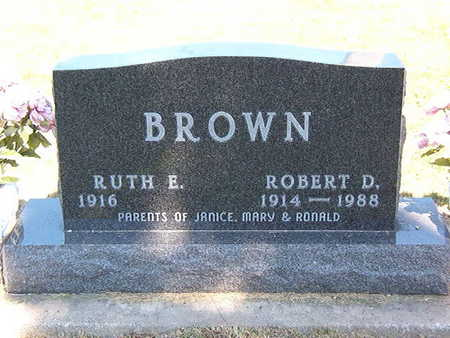BROWN, RUTH E. - Black Hawk County, Iowa | RUTH E. BROWN