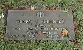 BUENNEKE, HENRY E. - Black Hawk County, Iowa | HENRY E. BUENNEKE