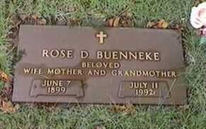 BUENNEKE, ROSE D. - Black Hawk County, Iowa | ROSE D. BUENNEKE