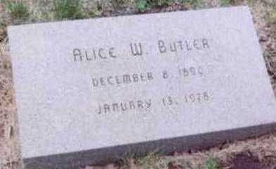 BUTLER, ALICE W. - Black Hawk County, Iowa | ALICE W. BUTLER