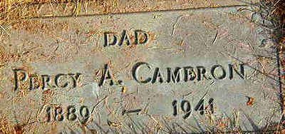 CAMERON, PERCY A. - Black Hawk County, Iowa | PERCY A. CAMERON
