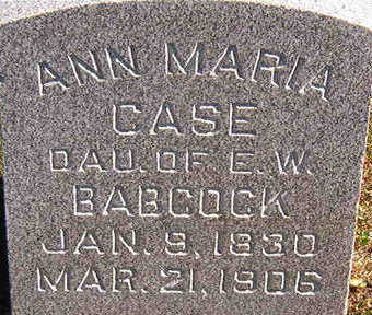 BABCOCK CASE, ANN MARIA - Black Hawk County, Iowa | ANN MARIA BABCOCK CASE