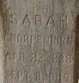 CHORPENNING, SARAH - Black Hawk County, Iowa | SARAH CHORPENNING