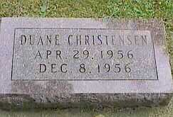 CHRISTENSEN, DUANE - Black Hawk County, Iowa | DUANE CHRISTENSEN