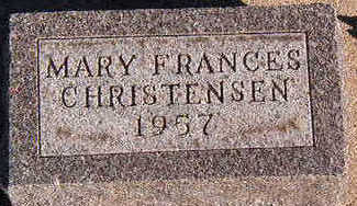 CHRISTENSEN, MARY FRANCIS - Black Hawk County, Iowa | MARY FRANCIS CHRISTENSEN