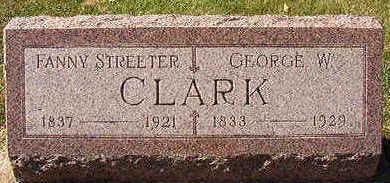 CLARK, FANNY STREETER - Black Hawk County, Iowa | FANNY STREETER CLARK