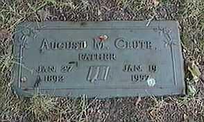 CLUTE, AUGUST M. - Black Hawk County, Iowa | AUGUST M. CLUTE