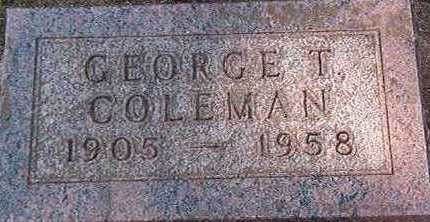 COLEMAN, GEORGE - Black Hawk County, Iowa | GEORGE COLEMAN