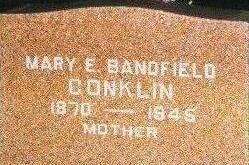 BANDFIELD CONKLIN, MARY E. - Black Hawk County, Iowa | MARY E. BANDFIELD CONKLIN